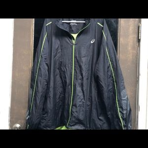Asics Men's Reflective Black Lime Jacket Size 4XL